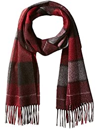 Men's Cashmere Large Checkered Plaid Scarf