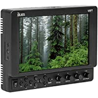Ikan VXF7 7 4K Full HD 3G-SDI/HDMI On-Camera LED Monitor with Canon LP-E6 & Sony L-Series Battery Plates, 1920x1200