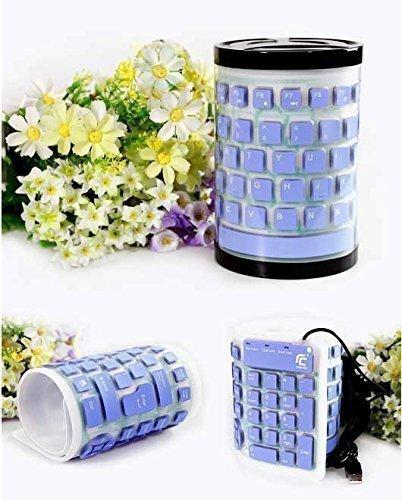 Good Voice Folding Portable USB Wired Keyboard Silicone Dustproof and Waterproof Mute Notebook Desktop Keyboard ()