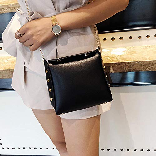 Hebilla de del señora Cruzado Girl del Bolso Bolso teléfono de Black móvil la el Viaje magnético Shoulder lzndeal para XqRHSwx