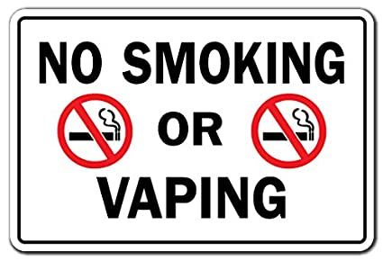 SignMission No Smoking Or Vaping Business Sign
