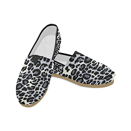 for dog Men Casual a Women Leopard wearing hat gray Shoes Loafers InterestPrint pirate Pattern qTwz6
