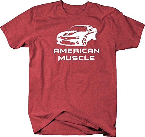American Muscle Car Camaro SS Fast Furious Movie Parts Mens T Shirt - 2XL