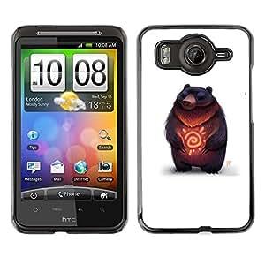 Shell-Star Art & Design plastique dur Coque de protection rigide pour Cas Case pour HTC Desire HD / G10 / inspire 4G( Bear Nature Heart Love Sunshine Furry Art )