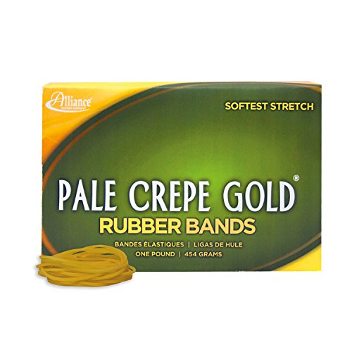 Alliance Rubber 20165 Pale Crepe Gold Rubber Bands Size #16, 1 lb Box Contains Approx. 2675 Bands (2 1/2