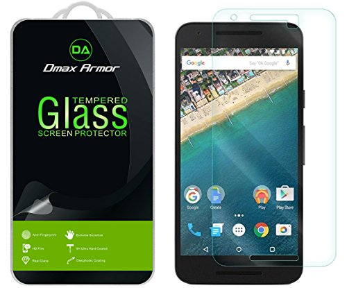 [2-Pack] Dmax Armor for Nexus 5X Screen Protector, [Tempered Glass] 0.3mm 9H Hardness, Anti-Scratch, Anti-Fingerprint, Bubble Free, Ultra-Clear