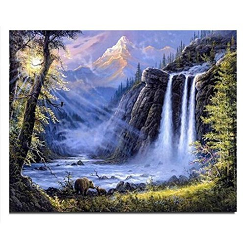 Waterfall new needlework full square drill diamond painting diy cross stitch diamond embroidery mosaic Home decoration