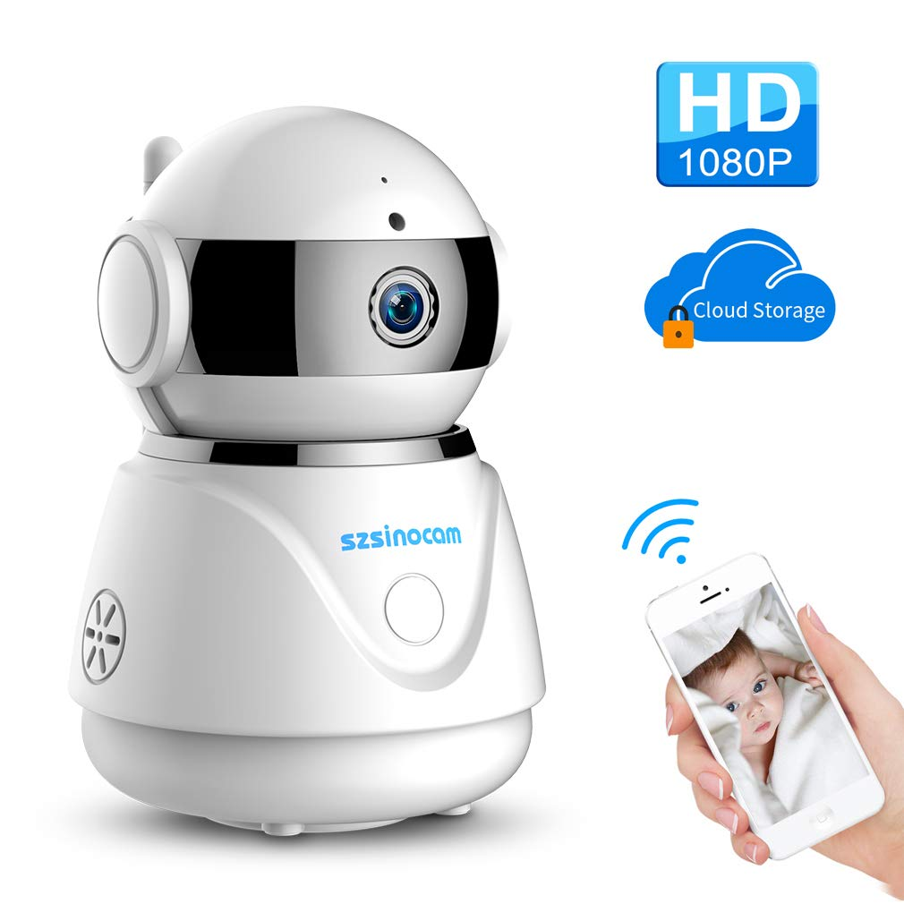 WiFi Camera, SZSINOCAM 1080P FHD WiFi IP Camera Wireless Indoor Camera for Baby Pet Nanny Monitor,Night Vision Camera Zoom Monitor, Pan Tilt,Two-Way Audio Motion Detection