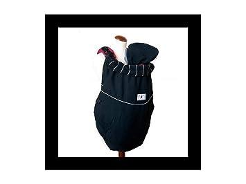 8bb85e5c83ac Manduca Deluxe FLeX Couverture pour porte-bébés Motif avec rayures grises  Couleur noire