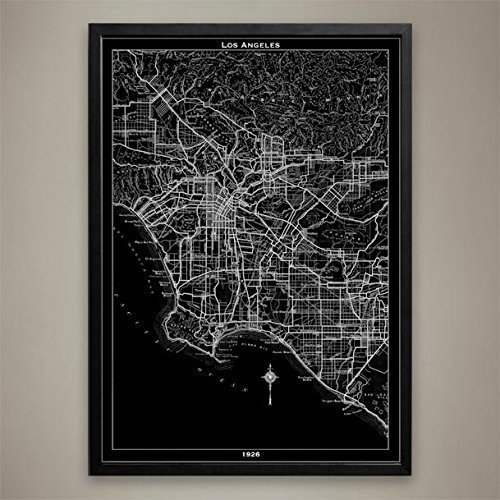 Los Angeles Map Print, Home or office Decor