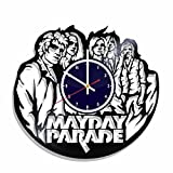 Wall clock Mayday Parade rock band made from real vinyl record, Mayday Parade wall poster, Mayday Parade decal, best gift for Mayday Parade fans