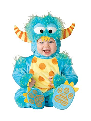 InCharacter Unisex Baby Monster Costume, Blue/Yellow/Orange, Small ()