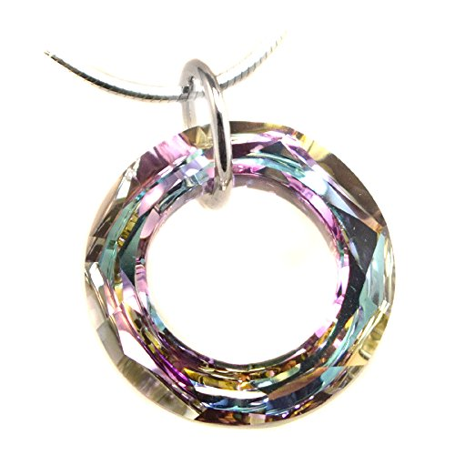 20mm Pendant Made With Swarovski Crystal Elements Cosmic Ring. Vitrail Light Colored