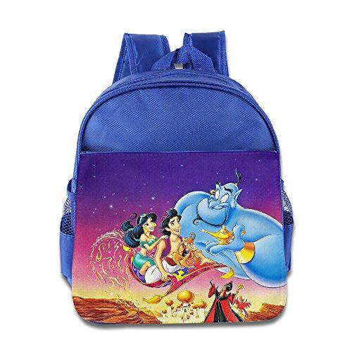 Aladdin Cartoon Movie Wallpaper Kids School Backpack Bag