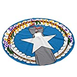 Yilad Flag of The Northern Mariana Islands Christmas Tree Skirt 35.5 Xmas Holiday Decoration