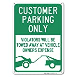 Customer Parking Only Sign, Large 10x14