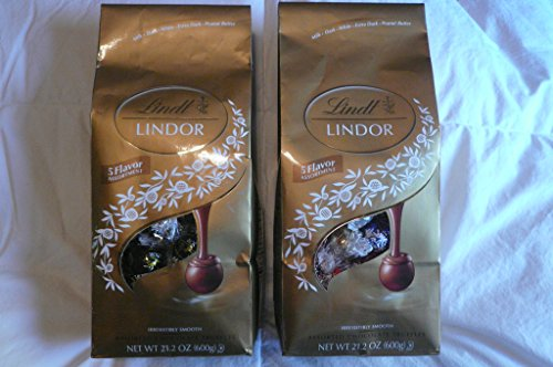 Lindt Lindor 5 Flavor Assortment Irresistible Assorted Smooth Chocolate Truffles 21.2 oz (Pack of - Sale India In Online