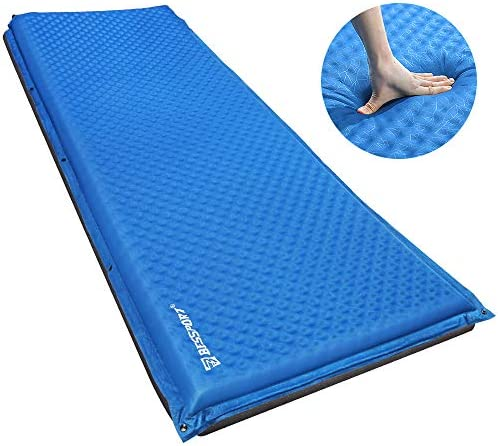 Bessport Sleeping Pad Inflatable Extra Thickness, 79x26 Inches - Self-Inflating Ultralight Camping pad for Backpacking Adults, Traveling and Hiking Sleeping Mat