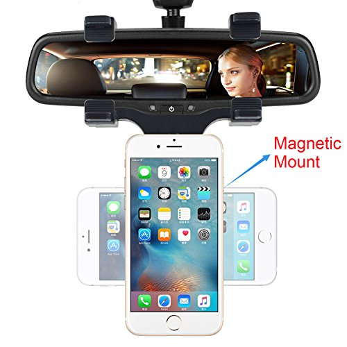 INCART Magnetic Car Mount, Car Rearview Mirror Mount Truck A
