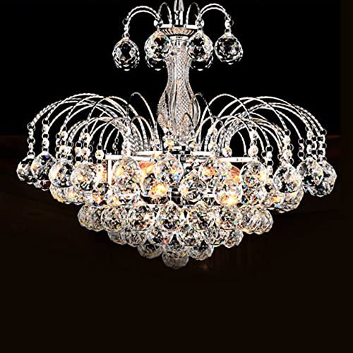 Bedroom LightInTheBox European-Style Luxury 3 Light Chandelier With Crystal Balls Living Room 7124320 Ceiling Light Fixture with Bulb Included fit for Dining Room