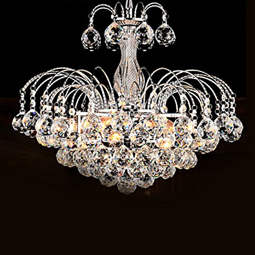 LightInTheBox European-Style Luxury 3 Light Chandelier With Crystal Balls, Ceiling Light Fixture with Bulb Included fit for Dining Room, Bedroom, Living Room (Luxury 3 Light)