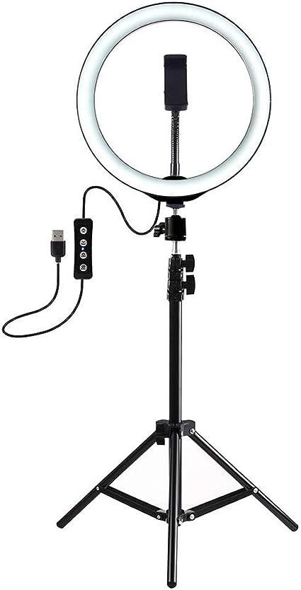 Tireow Selfie Enhancing Licht Ringlicht 7 6 Zoll Mit Stativ Ständer Usb 3 Modi Led Licht Für Live Stream Webcast Fotografie Online Unterricht Sport Freizeit