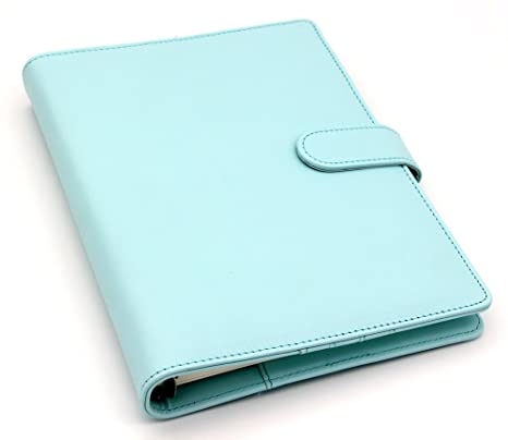 Passion leather notebook Original office personal diary/week planner/agenda organizer Cute ring stationery binder A5 blue