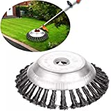 Weed Brush Trimmer Grass Cutter Steel Trimmer Head Wheel Disc 8Inch 25.4mm x 200mm Universal fit Straight Shaft Trimmer for Sthil Honda etc