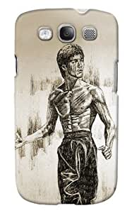 DailyObjects Bruce Lee by Aaronwty Case For Samsung Galaxy S3 I9300 Back Cover White/Cream