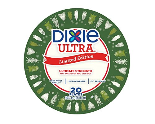 """Dixie Ultra 10"""" Snowing Forest Holiday Plates - 20ct"""