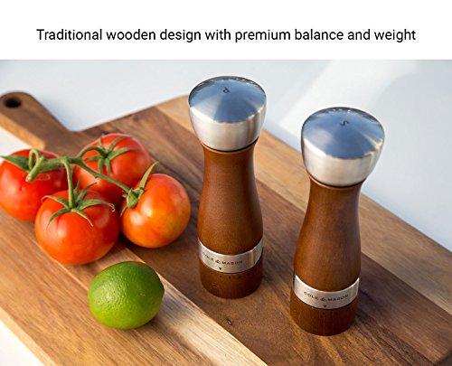 "Cole & Mason H304928GU Oldbury Salt & Pepper Mill Grinder Value Set, 7.5"", Brown"