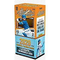 $219 » 2020 Panini Absolute Baseball box (two 10-card pks/bx = 20 cards total incl. FOUR Autograph & TWO Memorabilia cards)