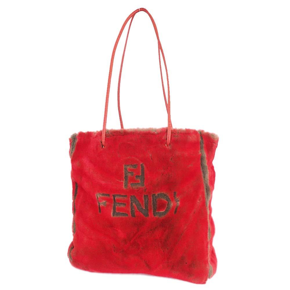 フェンディ レア トートバッグ ファー ラパン 赤色系 ヴェンテージ [美品]中古 B07N8QZJ8X