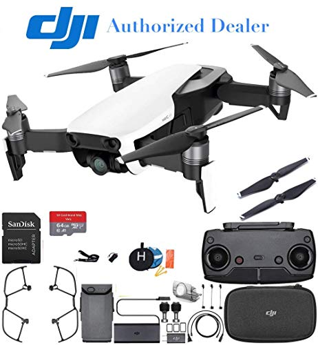 DJI Mavic Air Drone Quadcopter (Arctic White) Starters Bundle (Renewed)