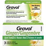 Gravol Ginger Liquid Gel Capsules for Upset Stomach and Nausea, 24 Capsules