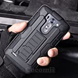 LG G Vista Case, Cocomii Robot Armor NEW [Heavy Duty] Premium Belt Clip Holster Kickstand Shockproof Hard Bumper Shell [Military Defender] Full Body Dual Layer Rugged Cover (Black)