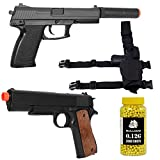 Airsoft Spring Pistols Bundle Airsoft Spring Pistol with Bulldog 0.12g 2000 bb pellets & Leg Holster