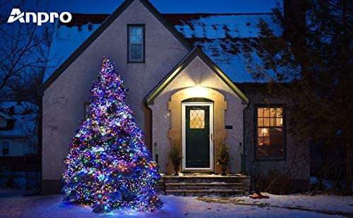 Upoom 200LED 33ft Indoor Fairy String Lights, Christmas Lights With 30V 8 Lighting Modes, Mini String Lights Plug in for Indoor Outdoor Christmas Tree Garden Patio Wedding Party Decoration, Multicolor