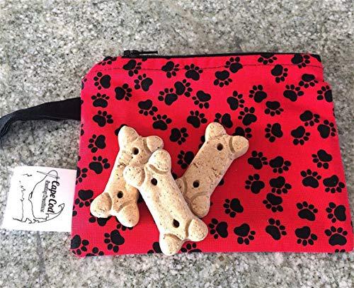 Reusable Snack Bag, Puppy Dog Treats, Zipper Pouch, Plastic Alternative