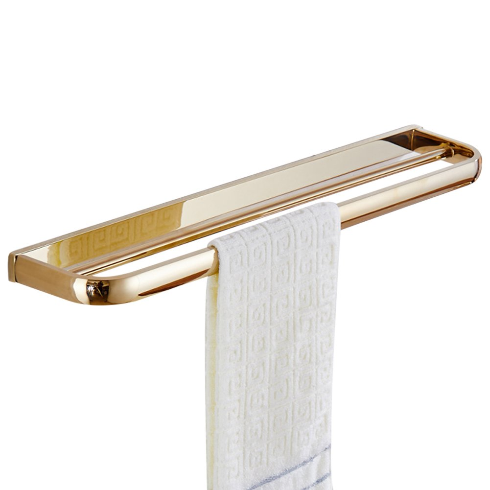 (Double Towel Bar) WINCASE Modern Space Saving Wall Mounted 60cm Double Towel Bars Racks Made of Brass with Concealed Screws Design B073FHZWNKDouble Towel Bar