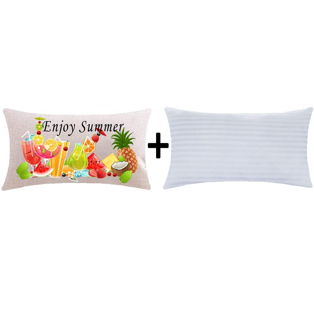 Amazon.com: ITFRO Enjoy Summer Time - Funda de cojín ...