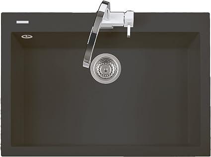 Lavello Cucina Incasso 1 Vasca 76 Cm Black Matt One On7610ug70 Amazon It Fai Da Te