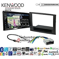 Volunteer Audio Kenwood DNX574S Double Din Radio Install Kit with GPS Navigation Apple CarPlay Android Auto Fits 2006-2008 Ram