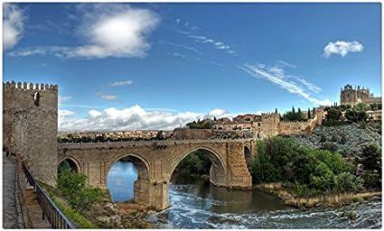 España puentes ríos fortaleza cielo Toledo ciudades sitios de viajes postal Post tarjeta: Amazon.es: Oficina y papelería