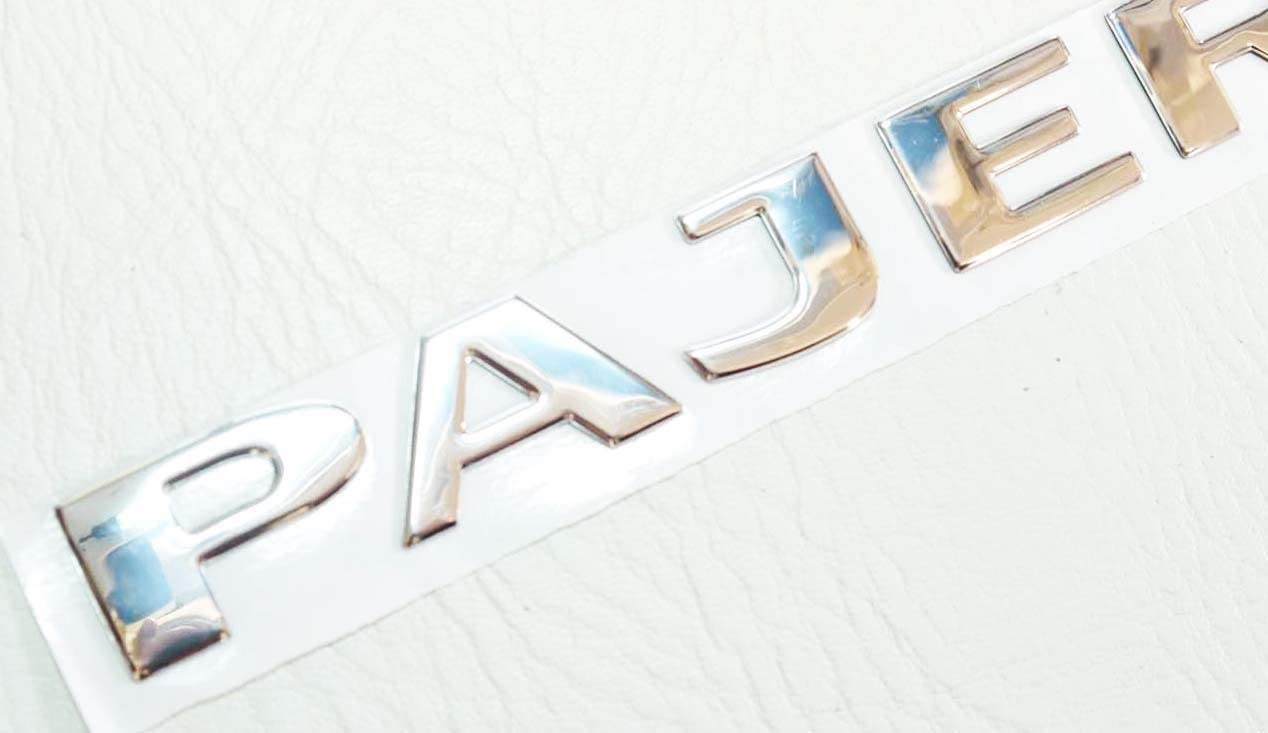 PAJERO BADGE CHROME arri/ère coffre 230x24mm COFFRE ROUE DE SECOURS