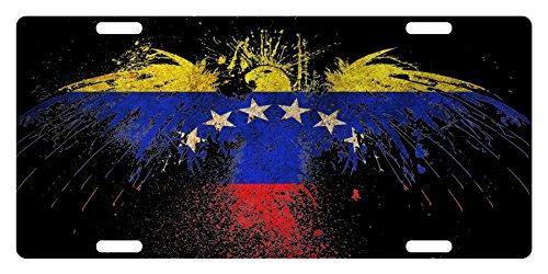 VENEZUELA Flag Custom License Plate Venezuelan Tricolor Emblem Eagle Version #4
