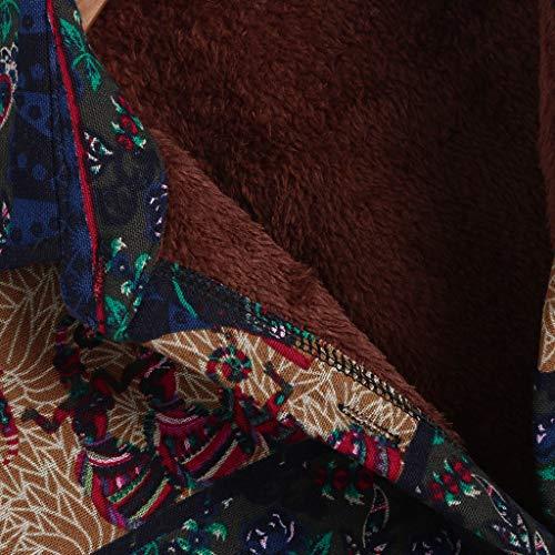 Années Folk Hooudo Lin Femmes marine A M Wild Outcoat Hiver 1950 Rabattu Vintage 4xl Hiver Femme Col Manteau Print Jacket custom Coton Chaud Velours Taille Plus xAPXAaq