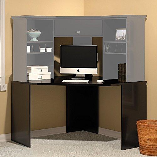 Stockport Corner Desk in Classic Black by Bush Furniture