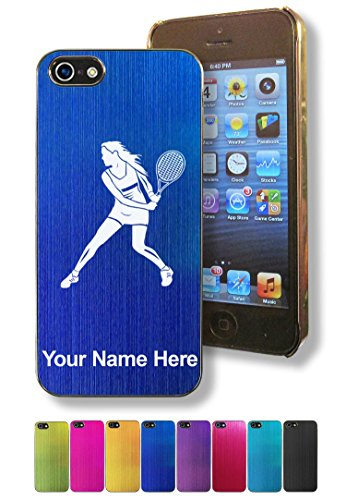 - Case for Apple iPhone 5/5s - Tennis Player Woman - Personalized Engraving Included
