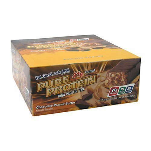 Worldwide Pure Protein High Protein Bar, Chocolate Peanut Butter, 2.75-Ounce Bars (Pack of 12)